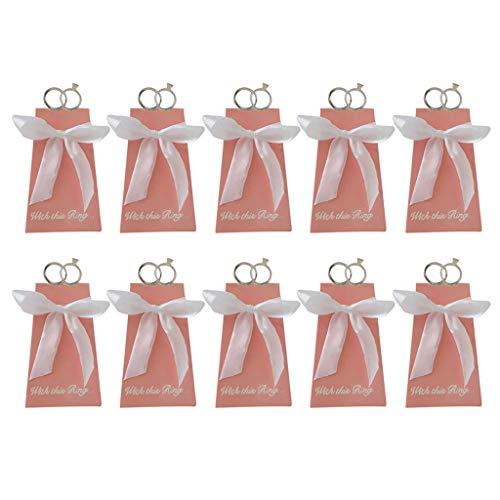 Yinuneronsty - Lote de 10 Cajas de Caramelos para Anillos de Diamante