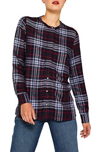 ESPRIT Damen 089Ee1F031 Bluse, 400/NAVY, (Herstellergröße: 36)