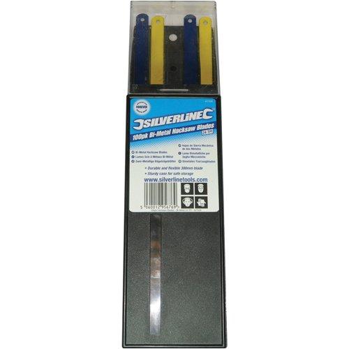 Silverline 456904 100 lames bi-métal pour scie à métaux 18 TPI