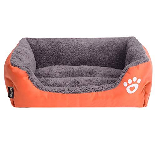 Page Adelasd Hunde Bett Für Kleine Medium Large Hunde Pet Haus wasserdichte Untere Weiche Fleece Warm cat Bett Sofa D XXXL