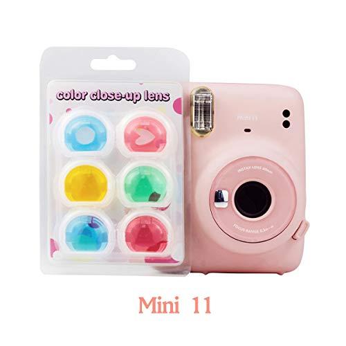 JXE Kit de filtros de lente de primeros planos, efecto especial, espejo de color, compatible con Fujifilm Instax Mini 11 Camera