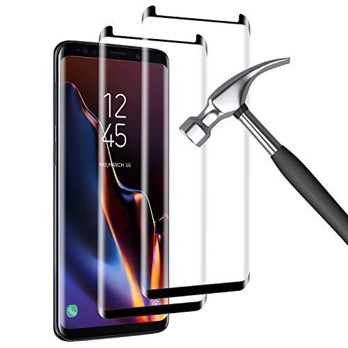 Mriaiz Verre Trempé pour Samsung Galaxy S8 Plus, (2 Pack) 3D Couverture Complète [Dureté 9H] [Anti-Scratch] [sans Bulles] HD Film de Protection d'écra pour Samsung Galaxy S8 Plus