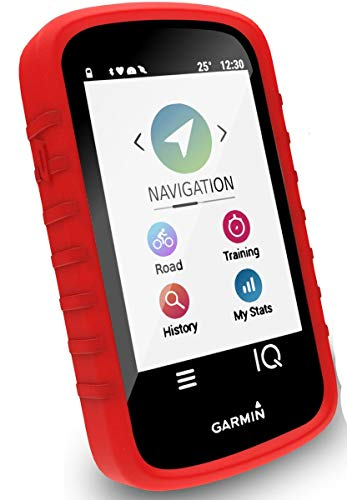 TUFF LUV Silikon Schutzhülle Case und Schirm-Schutz Für Garmin Edge 530 GPS - Rot
