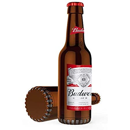 Budweiser Bluetooth Bottle Speaker Authentic Design Wireless Budweiser Red Speaker, Loud Audio Beer Speaker- Bud Weiser Red