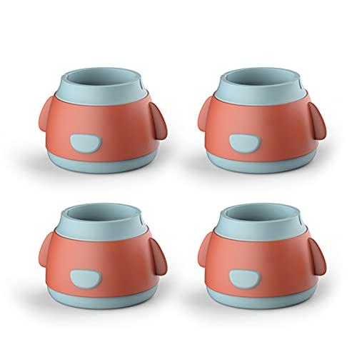 Delisouls Cubierta de protección de muebles, protectores de piso de silla redonda, antideslizante, anti-ruido, protege los pies de los muebles del piso para la silla de mesa
