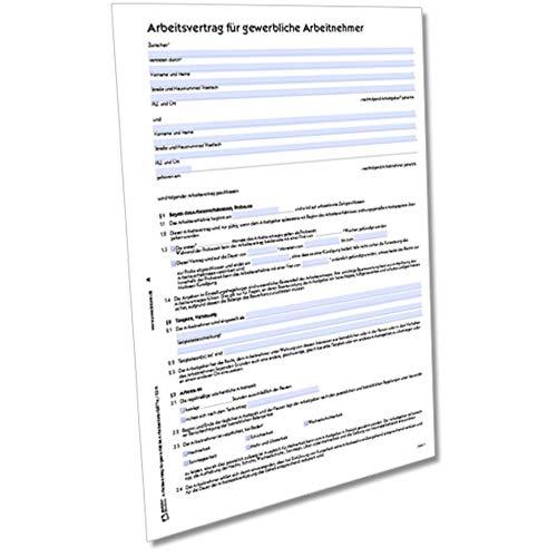 AVERY Zweckform 2877e Arbeitsvertrag für gewerbliche Arbeitnehmer (von Rechtsexperten geprüft, ideal für gewerbliche Arbeitnehmer und Arbeiter) [Word-Download für Mac]