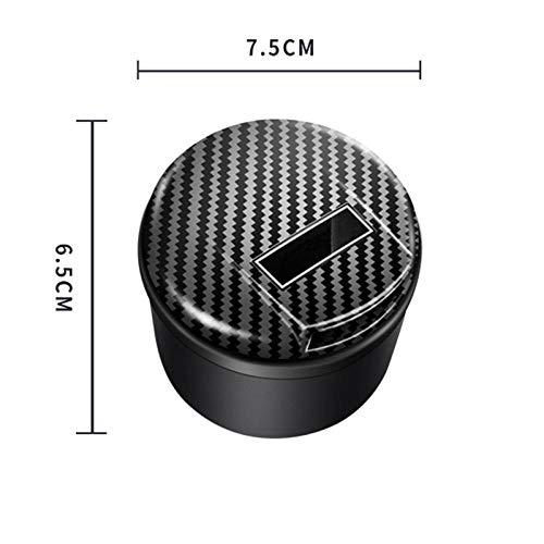 Autoasbak met led-deksel, afneembare led-kop, auto, USB-asbak, asbak, zonne-energie lading 7.5 * 6.5cm A1