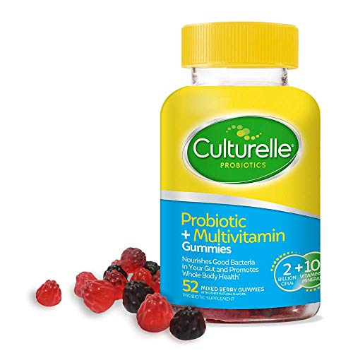 Culturelle Probiotic + Multivitamin Gummies for Adults - Supports Immune Health + Promotes Digestive Health - with Vitamin C, Vitamin D & Zinc - Multi, 52 Count, Mixed Berry