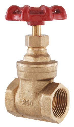 LDR 022 1105 Gate Valve, 1-Inch IPS, Lead Free Brass by LDR Industries