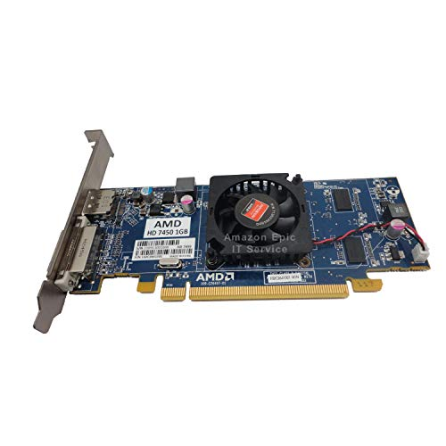 Epic IT Service - Tarjeta gráfica AMD Radeon HD 7450 de 1 GB/1024 MB de perfil bajo (soporte de tamaño completo), compatible con ordenadores de tamaño normal