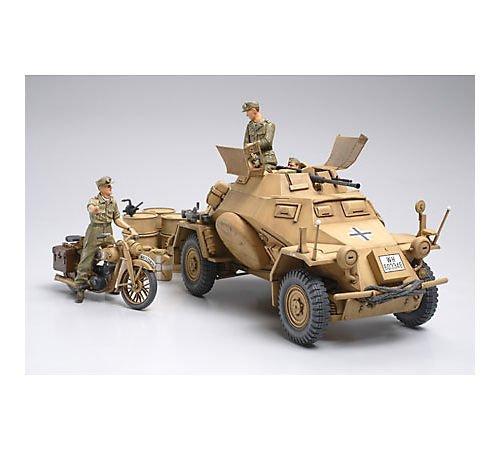 タミヤ 1/35 ミリタリーミニチュアシリーズ No.286 ドイツ陸軍 4輪装甲偵察車 Sd.Kfz.222 北アフリカ戦線 ...