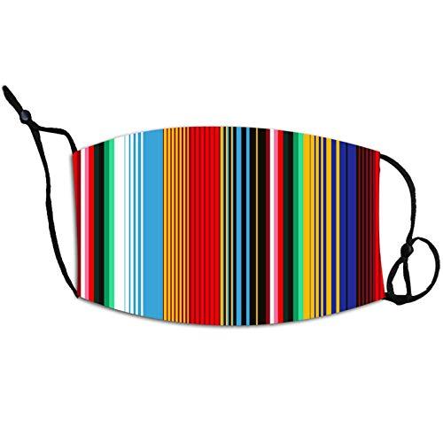 N / A Explosive, farbig gestreifte Zivilmasken mit hängenden Ohren, einstellbare Staub und beschlagfreie PM2.5Regenbogenmasken zum Wandern und Radfahren im Freien