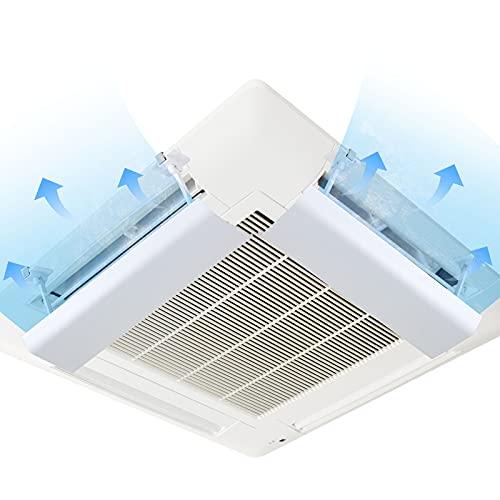 SOSU エアコン風よけカバー エアコンルーバー 風よけ 風避け 冷房 暖房 風向きを自由に調整 風の直撃防止 壁に穴あけ不要 多機種対応 取り付け簡単 (2枚入り)
