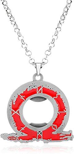 Modefilm Schmuck Kratos Ps4 Ares 4 Flaschenöffner Halskette Cosplay Anhänger Halsketten für Frauen Männer