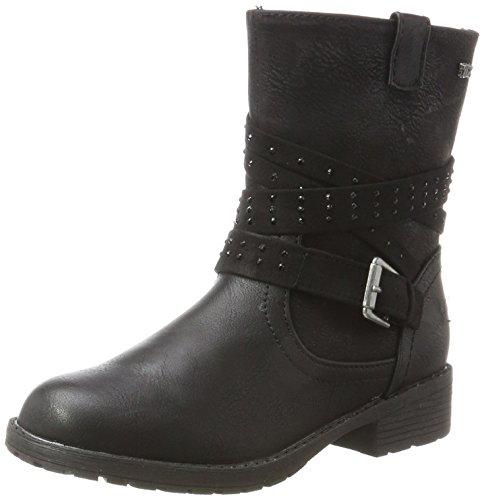 Indigo Mädchen 464 048 Biker Boots, Schwarz (Black), 36 EU
