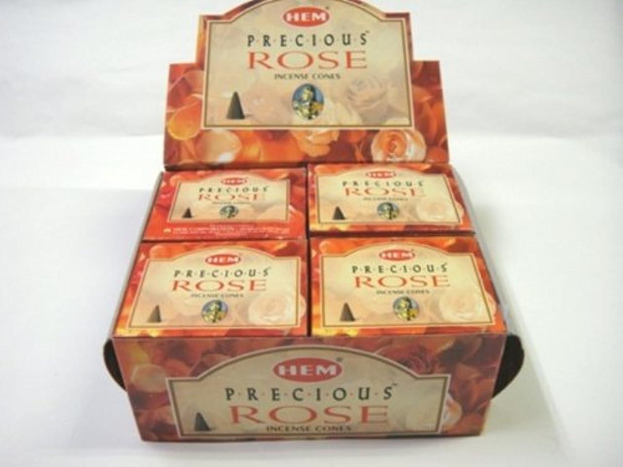 ペイン平等去るHEM お香 プレシャスローズ コーンタイプ 1ケース(12箱入り) お香薔薇