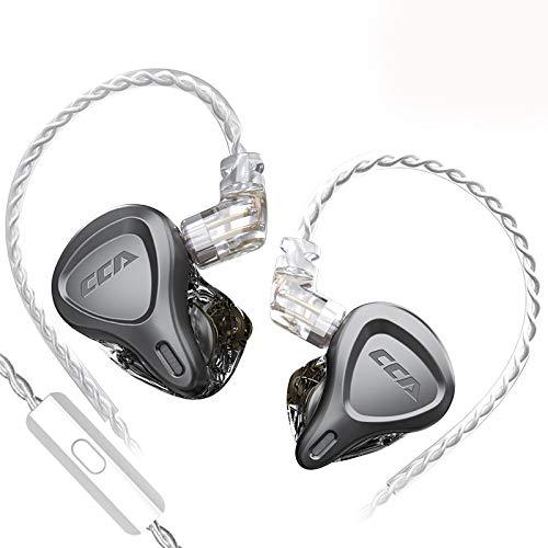 CCA CSN HiFi 4ユニット入耳式リスニングイヤホン高感度高精細運動イヤホン騒音除去高品位低音イヤホン