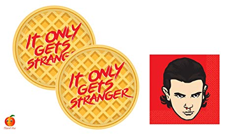 Stranger Things Party Supply Set with Paper Plates and Napkins for 16 by Amscan