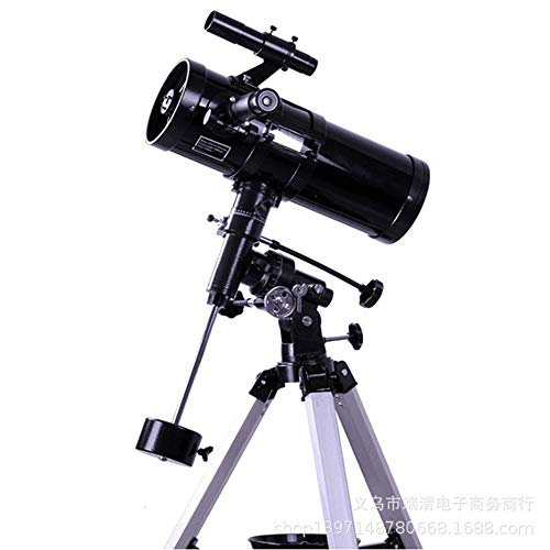 SG style Telescopio Astronómico HD 500 Veces F1000114EQ Reflector con G3 Montura Ecuatorial De Espacio Lejano Observación Reflexiva Telescopio,Blanco