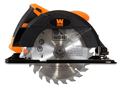 WEN 3614 12 Amp Sidewinder Circular Saw, 7-1/4',Orange