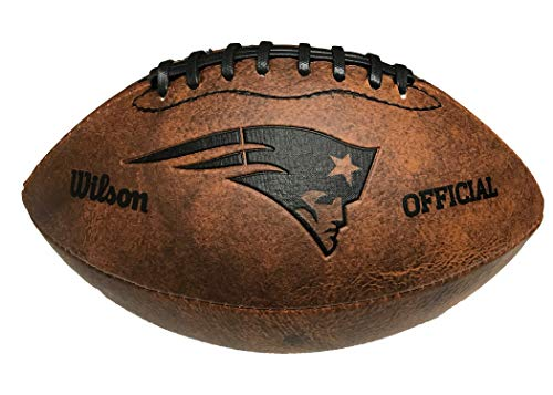 NFL New England Patriots Vintage Throwback Football, 9-Inches