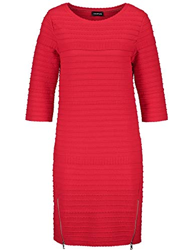 Taifun Damen 281013-16522 Kleid, Rot (Poppy Red 60622), 40