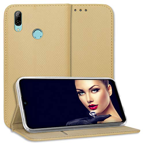 mtb more energy® Funda Bookstyle para Samsung Galaxy Xcover 4, 4S (SM-G390F, G398F / 5.0'') - Oro - Cuero sintético - Carcasa Cubierta Estuche Carátula