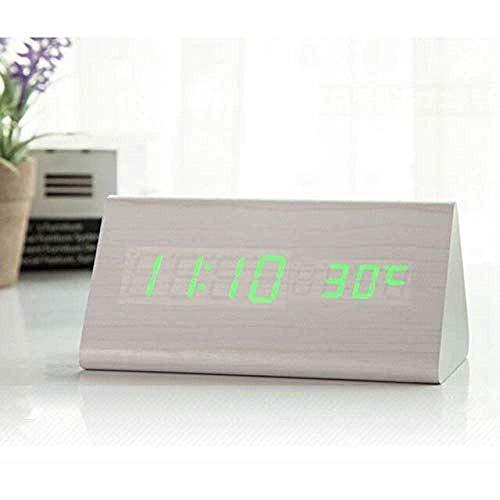Digitale Weckern Nachtsprachaktivierte Induktions Nicht Strahlungs Helligkeitsjustage Automatische Erfassungstemperatur Mute 12/24 Stunden Schalt