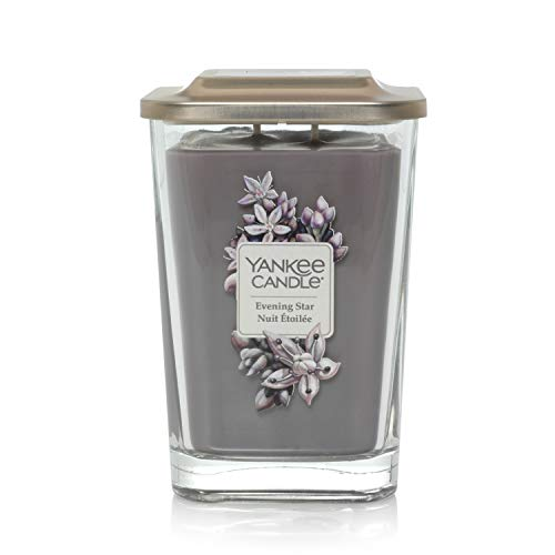Yankee Candle Elevation Collection piattaforma con coperchio grande 2-wick piazza candela profumata, Evening Star