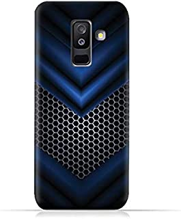 AMC Design Samsung Galaxy A6 Plus 2018 TPU Protective Silicone Case with Abstract Blue Mesh Pattern