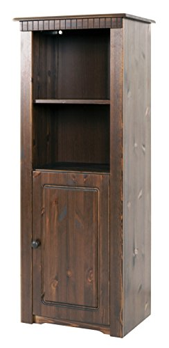 clever-moebel Regal mit Tür aus Kiefernholz, kolonialfarben; Vitrine, Schrank
