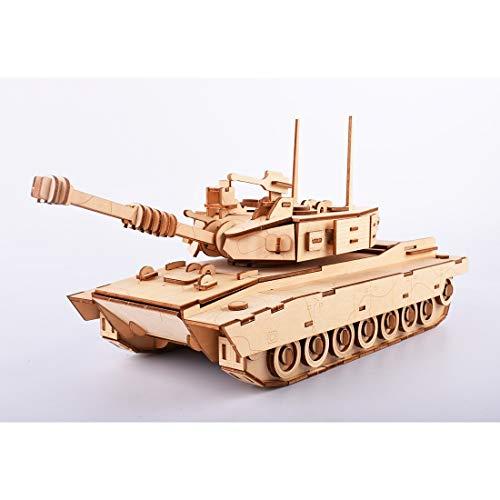 POXL 3D Wooden Puzzles Model, M1 Tank Model Kit Mechanical Wooden Building Puzzle