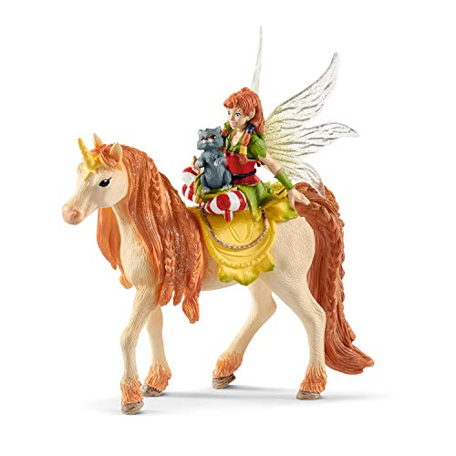 Schleich - Figura Hada Marween con Unicornio brillante, 18 cm