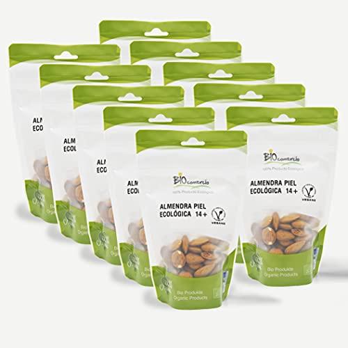 BIOCOMERCIO   Almendra ecológica entera   Almendras naturales con piel +14   1 kilo   10 bolsas x 100 gr  ...