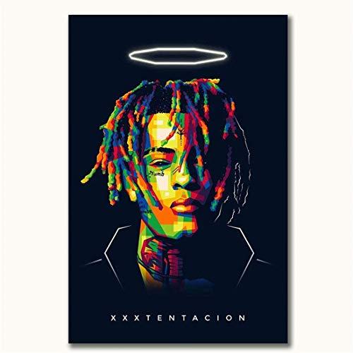 Refosian LKEDS Xxxtentacion Wandplakat Drucke Xxxtentacion Rap Singer 24