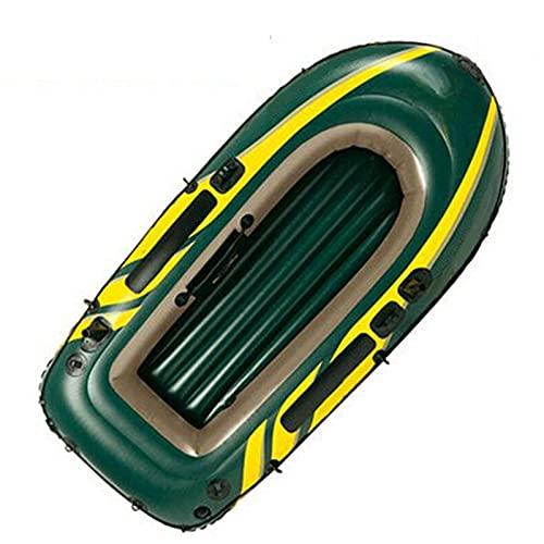 WBJLG Kayak Inflable, Juego de Canoa para 2 Personas, balsa para Kayak de mar, Bote para Deportes acuáticos, Botes de remos para Adultos, Bote de Goma para Pesca, Bote a la Deriva Plegable