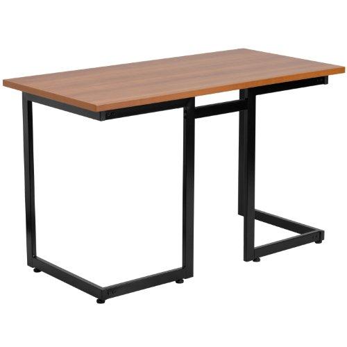 Flash Furniture Cherry Computer Desk with Black Metal Frame