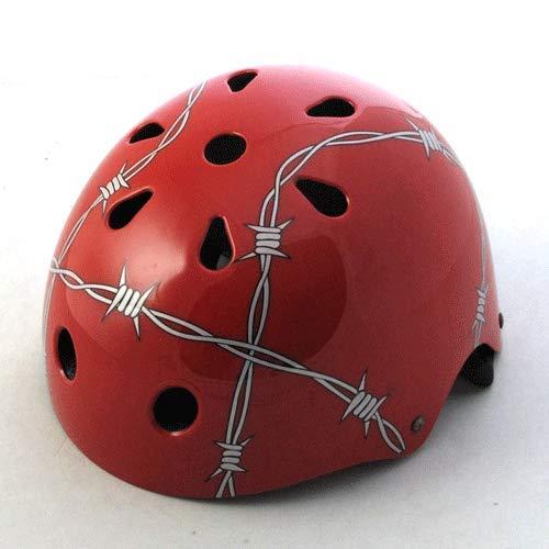 Cobnhdu Nuevo casco para niños casco de alambre de púas bicicleta casco...
