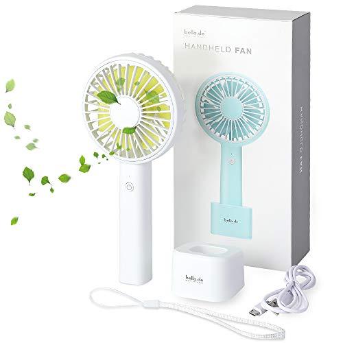 memumi Ventilador USB Portátil, Mini Handheld Fan Ventilador de Mesa de Escritorio de Ventilador Portátil Ligero para Oficina/Al Aire Libre/Viajar en Casa (Blanco)