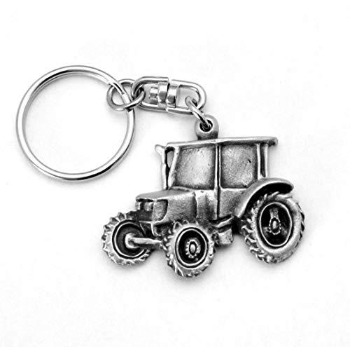 """Schlüsselanhänger """"Traktor"""" aus Englisch Zinn, handgefertigt - Bauernhof"""