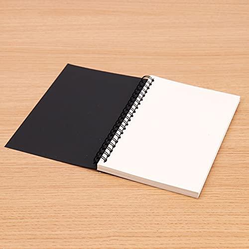 Cuaderno de bocetos Espiral, Libreta Perfecto de Papel en Blanco, 45 hojas Diario de Viaje para Escolar Escribir y Maestros, ancho12cm x elevado18cm, 3pcs(Color: Black white paper)