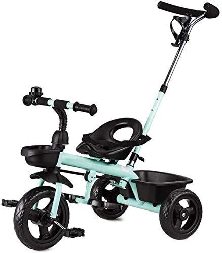 Pushchairs Kindertrikes Kinderfiets Kinderrijwielen voor 1-3-6 Jaar Ouderen Fietsen Duwen Handvat Groei - Met Hoofd Verstelbare Hoogte Duwrit Tricycle Baby Producten