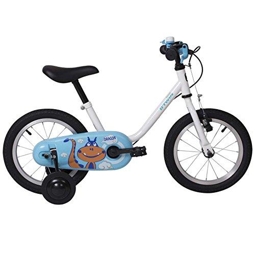Kinderfahrräder YANFEI Girls 'Kids Bike 1 Speed Speichenräder Vollständig Geschlossene Kettenschutz und Easy Reach Bremsen, Blau Kindergeschenk