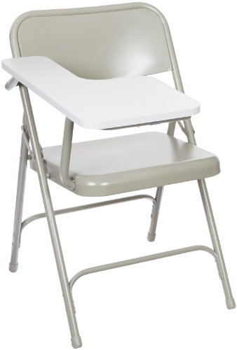 National Public Seating 5200 Series All Steel Premium Folding Chair with Right Tablet Arm, 480 lbs Capacity, Gray (Carton of 2)