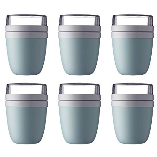 Mepal 107648092400 Ellipse Lunchpot to go 500 ml & 200 ml, nordic green (6er Pack)
