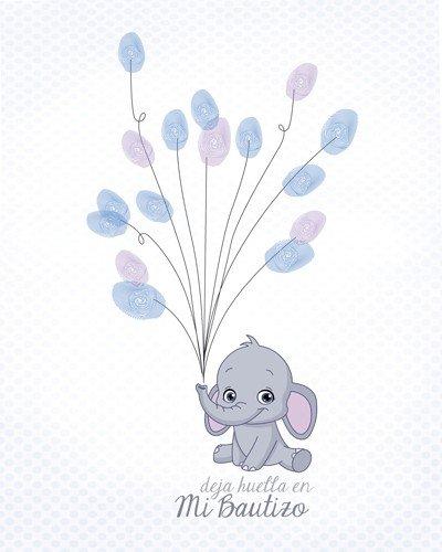 DISOK - Árboles De Huellas para Bautizos - Laminas, Arboles de Huellas para Personalizar, Personalizados para Bautizos, Bebés, Recién Nacidos