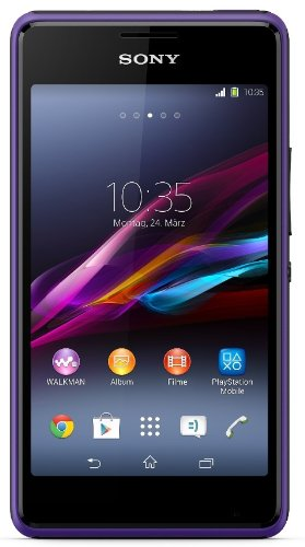 Sony Xperia E1 Dual Smartphone (10,2 cm (4 Zoll) TFT-Display, 1,2GHz Dual-Core, 3 Megapixel Kamera, Dual-SIM, Android 4.3) violett