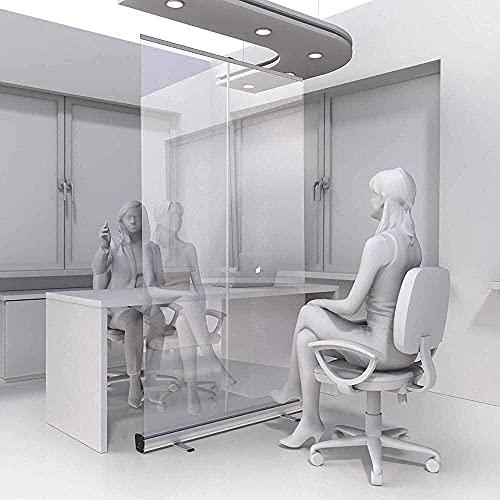 EW&HU Piso, piso ajustable con roll up stand barrera de aislamiento independiente para oficina, aula y más (Color : A, Size : 100×200cm)