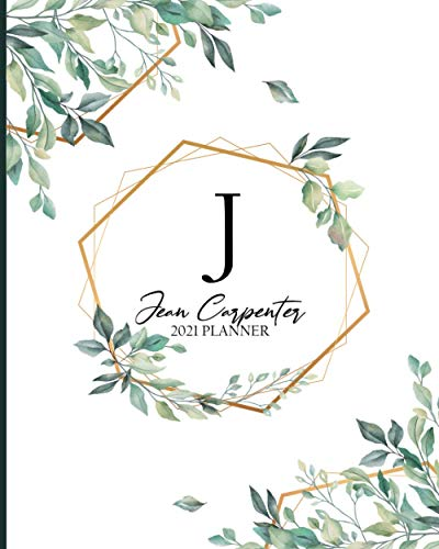 JEAN CARPENTER 2021 Planner Weekly and Monthly