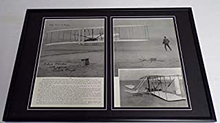 Orville Wright Facsimile Signed Framed 12x18 Photo Display